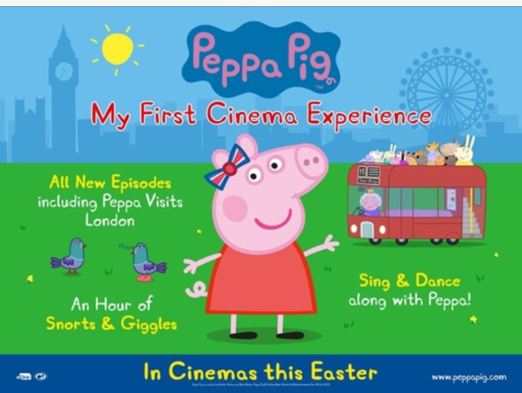 Peppa on the big screen..