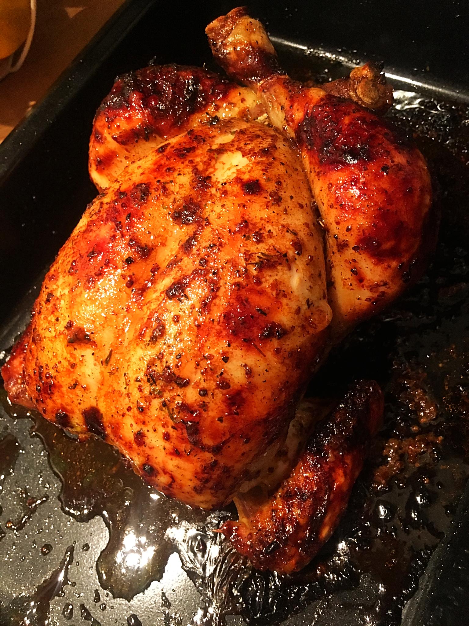 Honey Mustard Roast Chicken