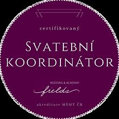 Badge Certifikovaný Svatební koordinátor