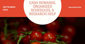 Cash Rewards, Organized Schedules, & Research Help