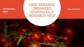 Cash Rewards, Organized Schedules, & Research Help