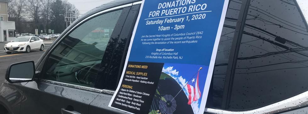 Puerto Rico Drive, for earthquake survivors