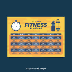 Weight loss schedule, fat loss, fitness