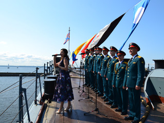 Репетиция парада ко дню ВМФ
