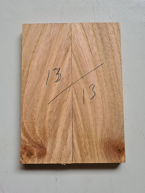 Book matched Elm knife scales ref 13