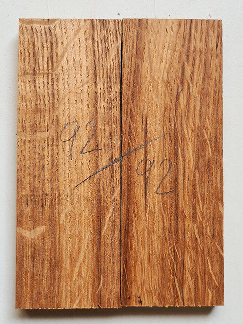 Book matched Tiger Oak scales ref 92