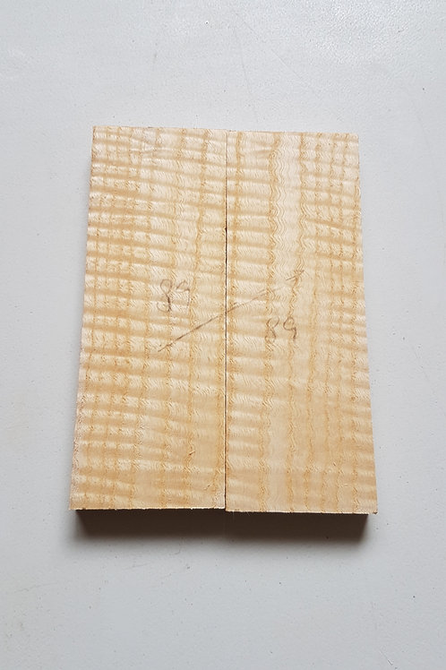 Book matched rippled Ash ref 89
