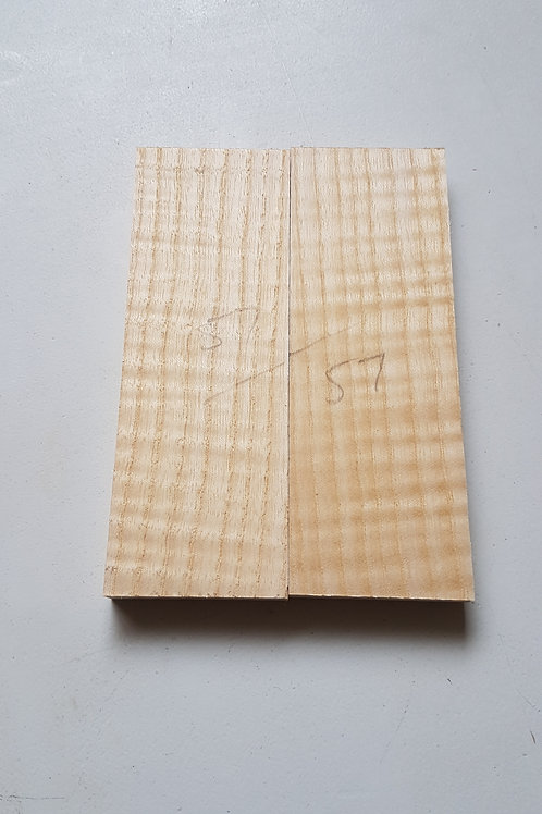 Book matched rippled Ash scales ref 57