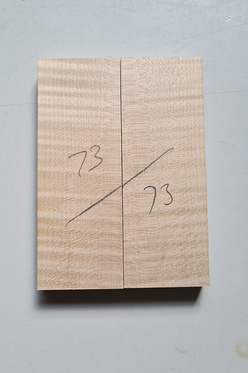Book matched rippled Sycamore ref 73