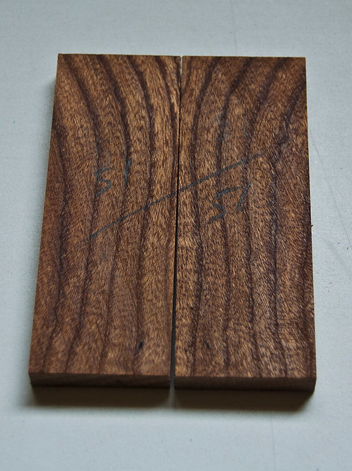 Book matched Elm scales ref 51