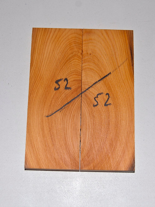Book matched Yew scales ref 52