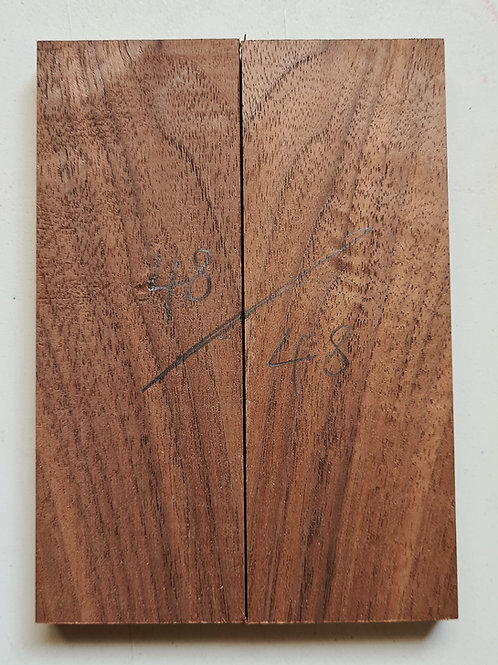 Book matched Walnut (american) scales ref 48
