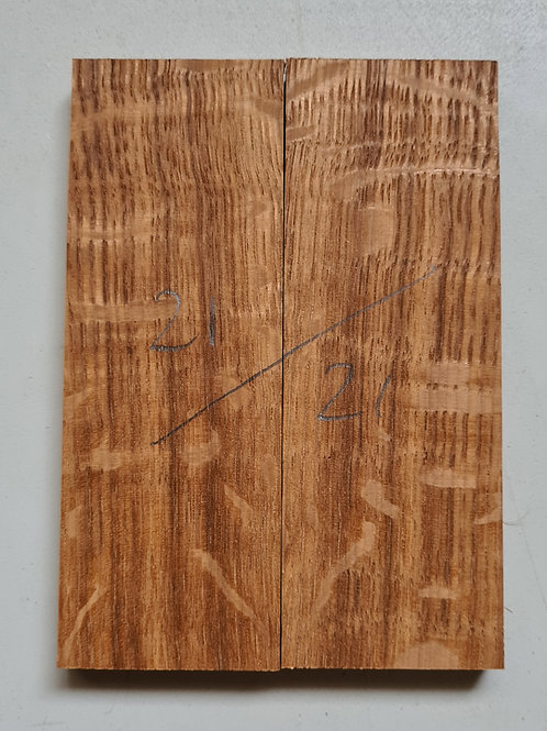 Book matched Tiger Oak scales ref 21