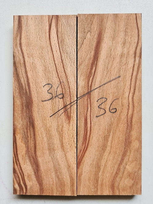 book matched spalted Beech scales ref 36