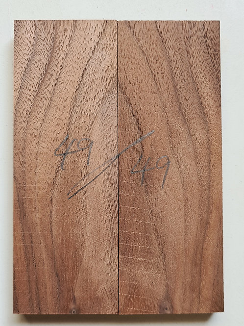 Book matched Walnut (American) scales ref 49