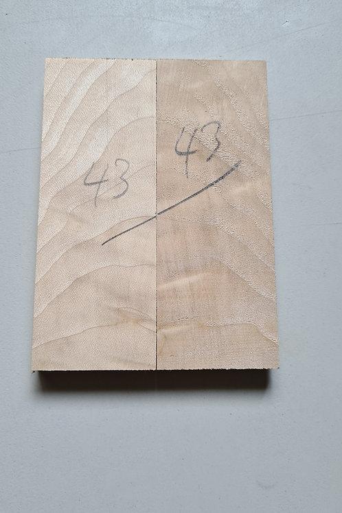 Book matched rippled Sycamore scales ref 42