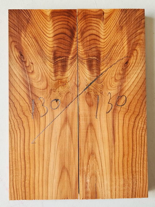 Book matched Yew scales ref 130