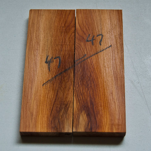 Book matched Yew scales ref 47