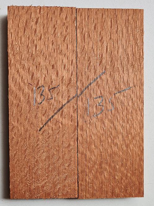 Australian silky Oak knife scales red 135