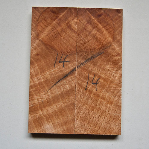 Book matched rippled Beech scales ref 14