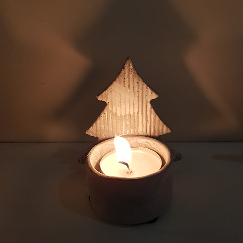 Concrete Tree Tea Light Holder