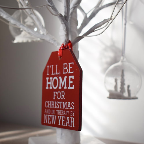 'I'll be home for Christmas' sign