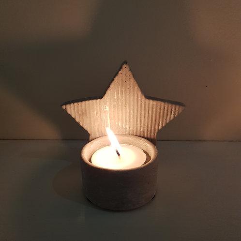 Concrete Star Tea Light Holder