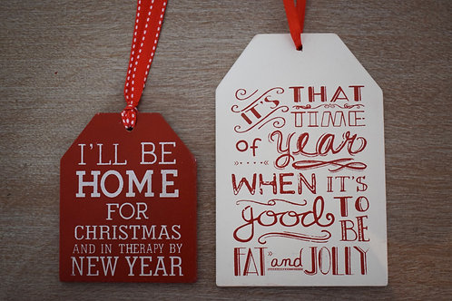 Fat & Jolly hanging Christmas plaque