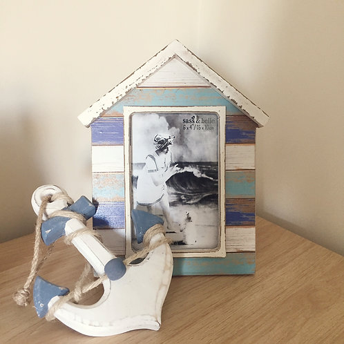 Beach Hut Themed Photo Frame