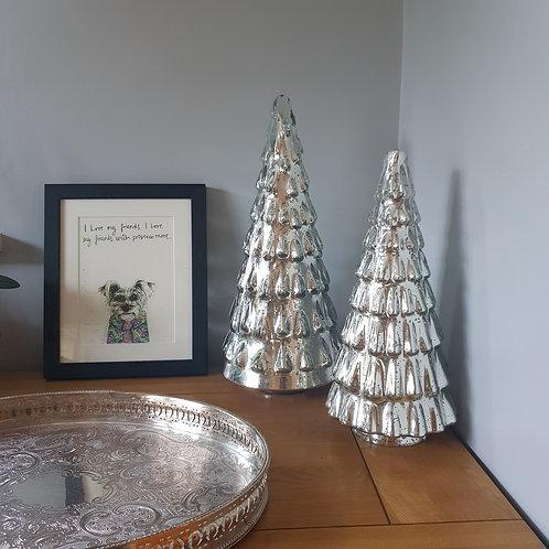 Mercury Glass Trees (set of 2)