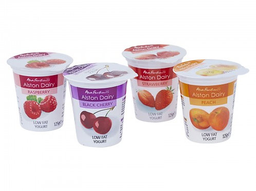 1 TRAY MIXED FRUIT YOGURTS 12 X 125GR