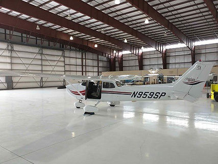 Aircraft in hangar in redhill aerodrome