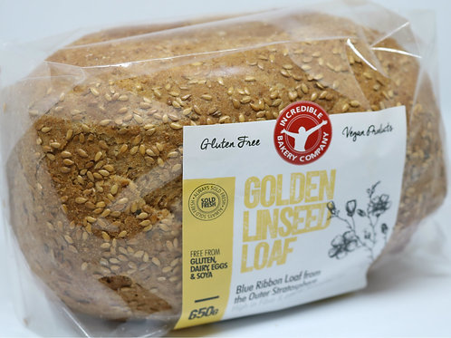 Gluten Free Golden Linseed Loaf 650g (Sold Frozen)