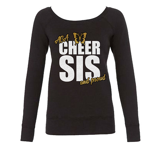 """Glitter """"Cheer Sis and Proud"""" Long Sleeve Sweat"""