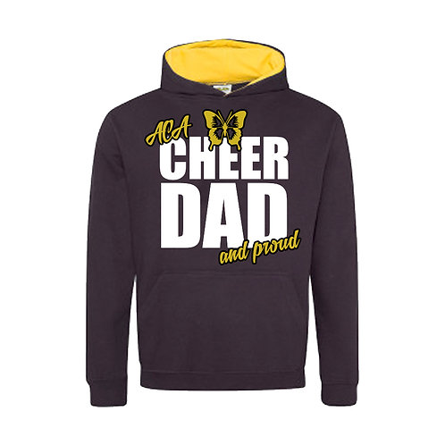 """Cheer Dad and Proud"" Contrast Hoodie"