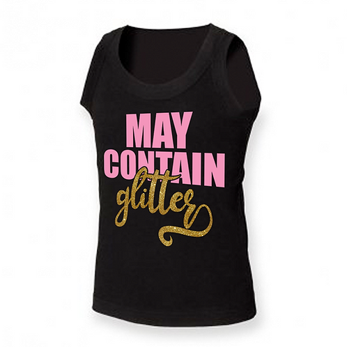 May Contain Glitter Athletic Vest