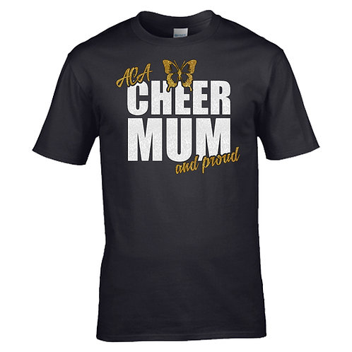 """Glitter """"Cheer Mum and Proud"""" T-Shirt"""