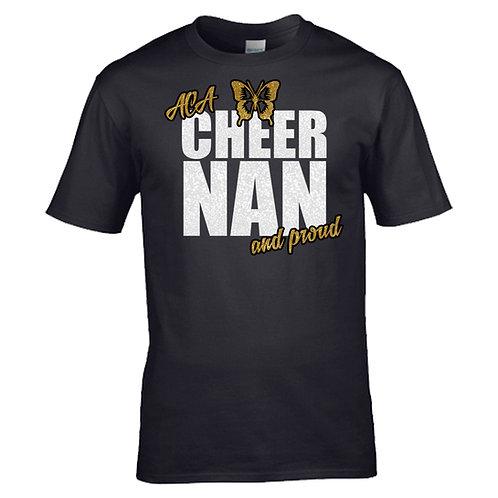 """Glitter """"Cheer Nan and Proud"""" T-Shirt"""