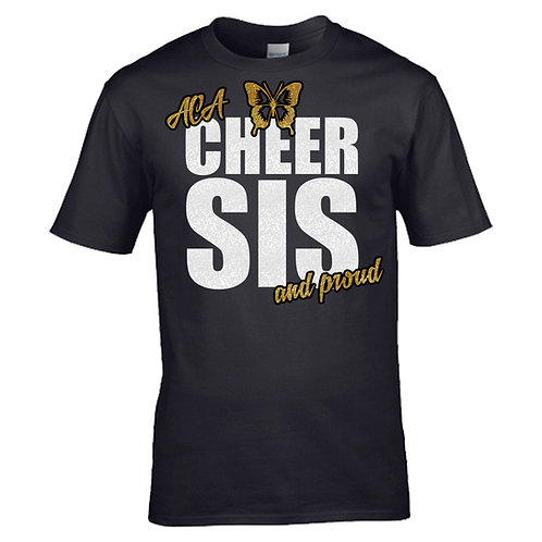 """Glitter """"Cheer Sis and Proud"""" T-Shirt"""