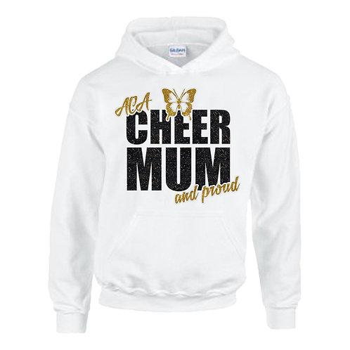 """Glitter """"Cheer Mum and Proud"""" Hoodie"""