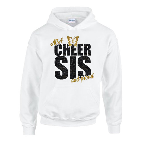 "Glitter ""Cheer Sis and Proud"" Hoodie"