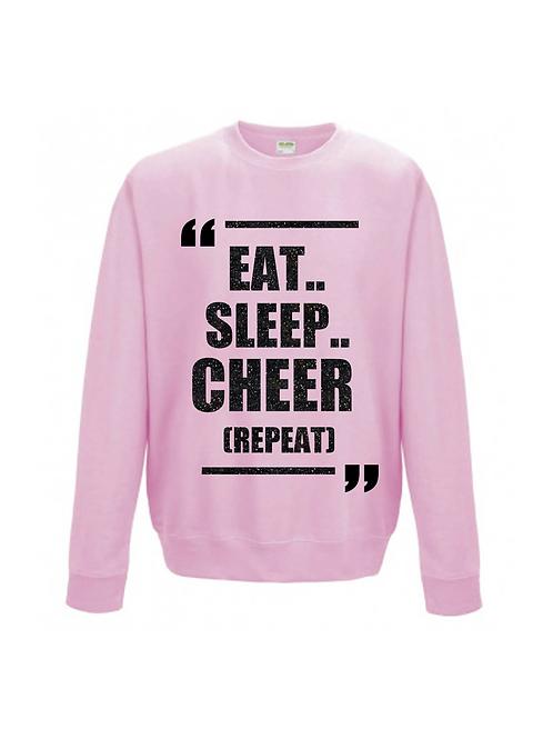 Eat, Sleep, Cheer, Repeat Jumper