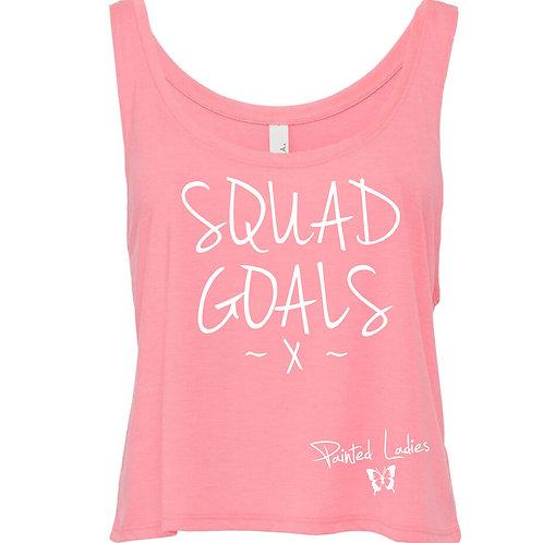 Neon Pink Squad Goals Vest