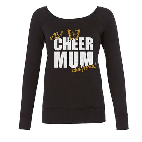 "Glitter ""Cheer Mum and Proud"" Long Sleeve Sweat"