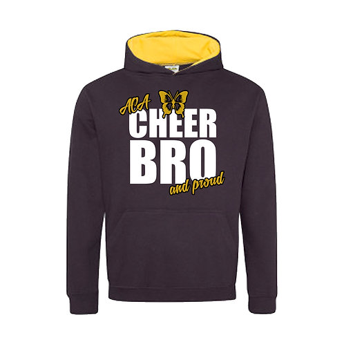 """Cheer Bro and Proud"" Contrast Hoodie"