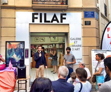 Inauguration de l'exposition de Toma Dutter à la galerie du FILAF
