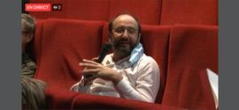 Sébastien Gokalp, membre du comité scientifique lors de la présentation du livre Object of desire, Castillet 2020