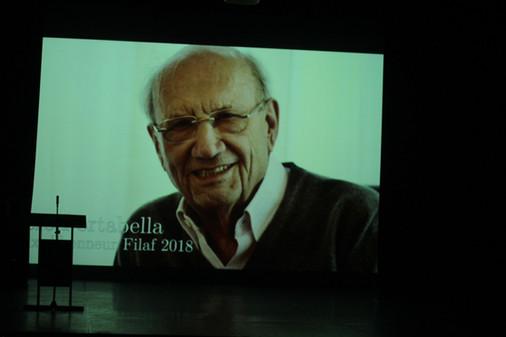 Pere Portabella, prix d'Honneur du FILAF 2018.