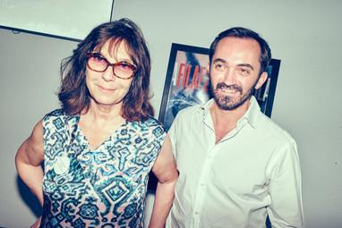 Sébastien Planas, Président du FILAF aux côtés de Sophie Calle, auteur, artiste et Prix d'Honneur du FILAF 2015.
