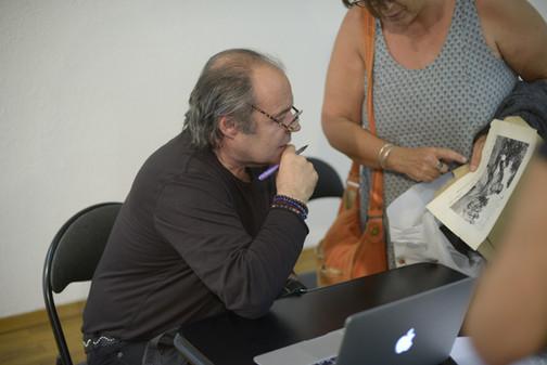L'auteur Philippe Djian en dédicace. Invité d'Honneur du FILAF 2015.